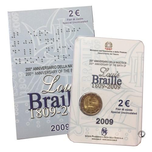Italia - 2009 - 2€ Louis Braille