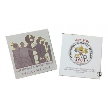 Vaticano - 2009 - 5€ + 10€ Argento PROOF