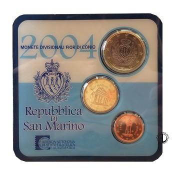 San Marino - 2004 - Mini Set 1c.+10c.+1€