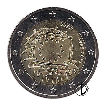Estonia - 2015 - 2€ 30° Bandiera