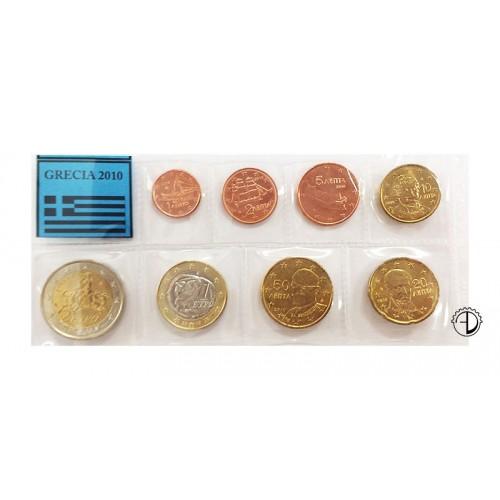 Grecia - 2010 - Serie Sciolta 8 v. (con 2€ comm.)
