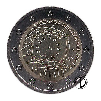 Germania - 2015 - 2€ 30° Bandiera