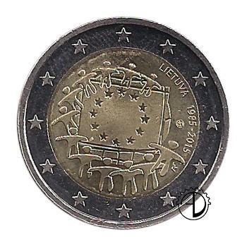 Lituania - 2015 - 2€ 30° Bandiera