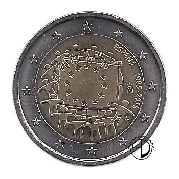 Spagna - 2015 - 2€ 30° Bandiera