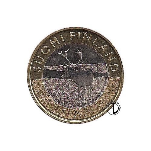 Finlandia - 2015 - 5€ Lapponia: Renna