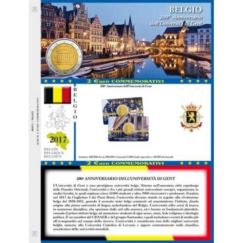 Abafil Foglio 2€ 2017 Belgio Gent in Blister