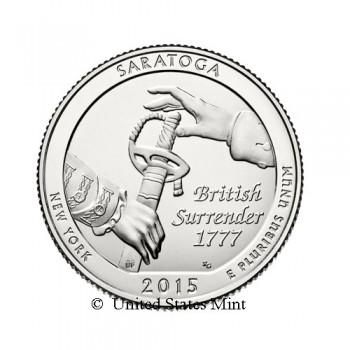 USA 1/4$ 2015 Saratoga