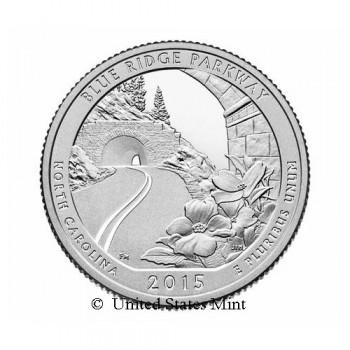 USA 1/4$ 2015 Blue Ridge Parkway