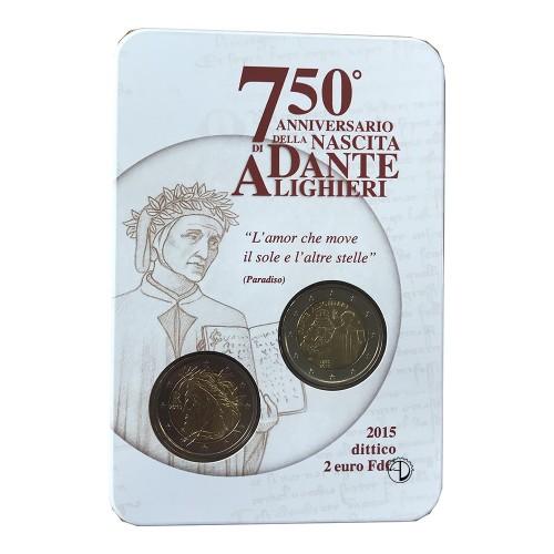 Italia - 2015 - 2€ Dante in Blister