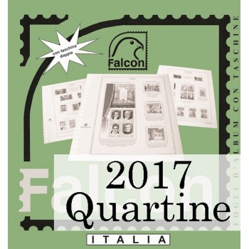 Fogli Italia 2017 Quartine - Falcon