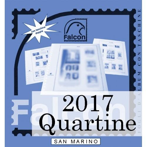 Fogli San Marino 2017 Quartine - Falcon