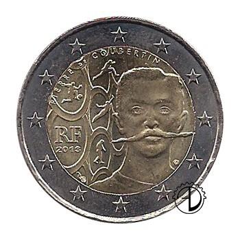 Francia - 2013 - 2€ De Coubertin