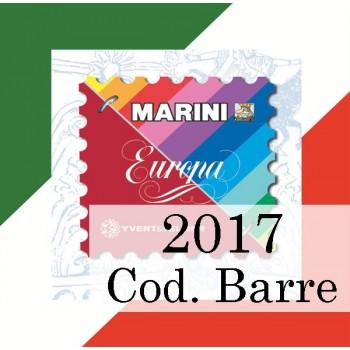 Fogli Italia 2017 Codici a Barre - Europa
