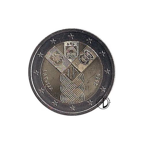 Lettonia - 2018 - 2€ Stati Baltici