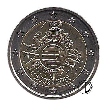 Belgio - 2012 - 2€ Decennale Euro