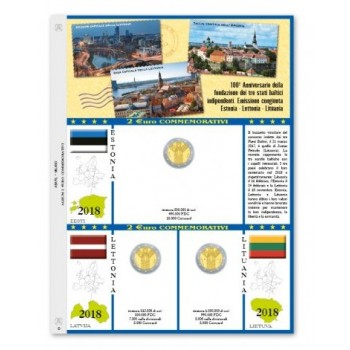 Abafil Fogli 2€ Comm. 2018 - Stati Baltici