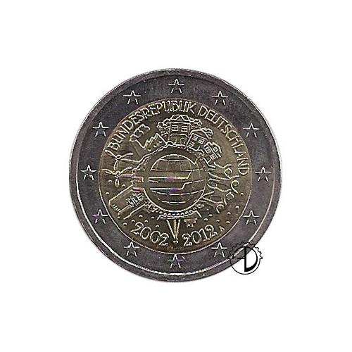 Germania - 2012 - 2€ Decennale Euro