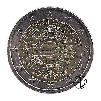 Grecia - 2012 - 2€ Decennale Euro