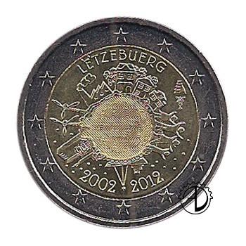 Lussemburgo - 2012 - 2€ Decennale Euro