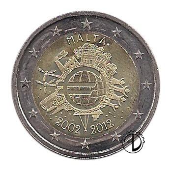 Malta - 2012 - 2€ Decennale Euro
