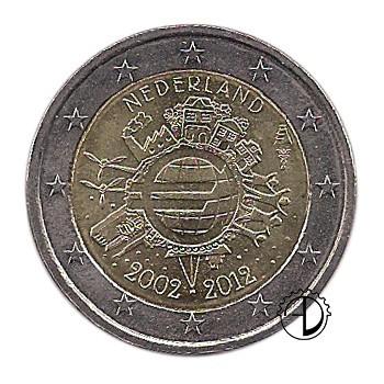 Olanda - 2012 - 2€ Decennale Euro
