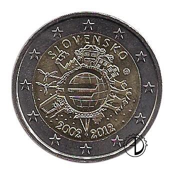 Slovacchia - 2012 - 2€ Decennale Euro