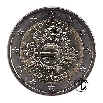 Slovenia - 2012 - 2€ Decennale Euro