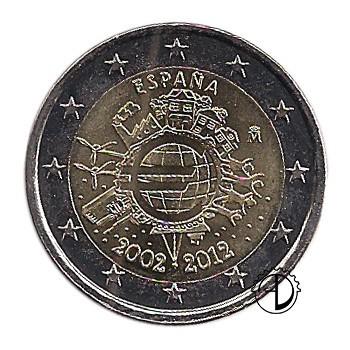 Spagna - 2012 - 2€ Decennale Euro