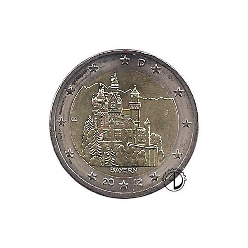 Germania - 2012 - 2€ Castello di Neuschwanstein