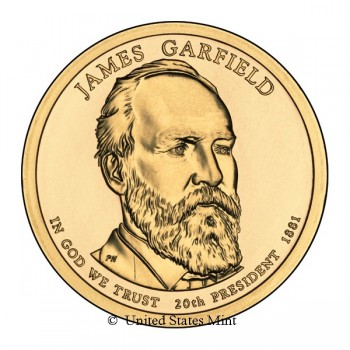 USA $ 2011 Presidente Garfield