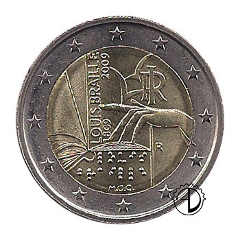 Italia - 2009 - 2€ Louis Braille
