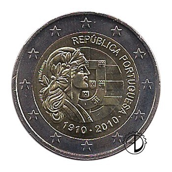 Portogallo - 2010 - 2€ Repubblica