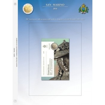 Abafil S.Marino Foglio 2€ 2016 Donatello