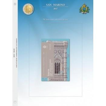 Abafil S.Marino Foglio 2€ 2017 Giotto