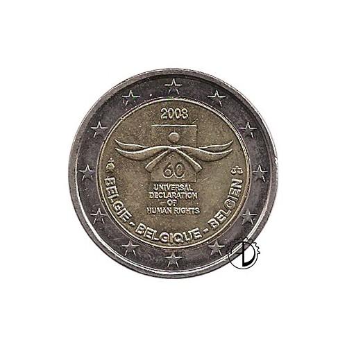 Belgio - 2008 - 2€ Diritti dell'Uomo