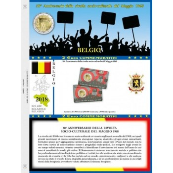 Abafil Foglio 2€ 2018 Belgio Rivolta in Blister