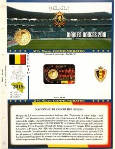 Abafil Foglio 2,5€ 2018 Belgio Calcio