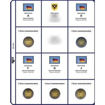MasterPhil Fogli 2€ comm. 2016 Germania 5 zecche