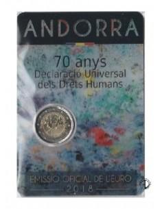 Andorra - 2018 - 2€ Diritti dell'uomo  (in blister)