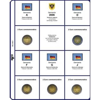 MasterPhil Fogli 2€ comm. 2006 Germania 5 zecche