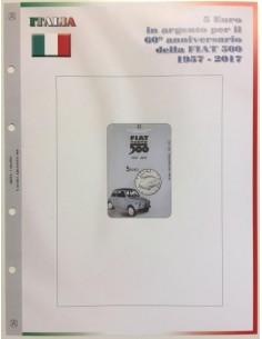 Abafil Italia 5€ Foglio 2017 - Fiat 500