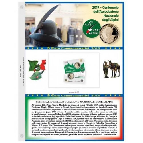 Abafil Italia 5€ Foglio 2019 - Alpini
