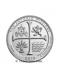 USA 1/4$ 2019 San Antonio Missions