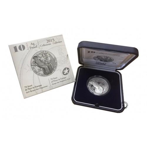 Italia - 2015 - 10€ Pace PROOF