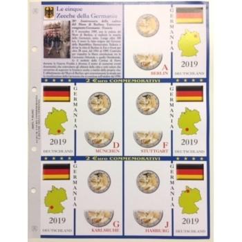 Abafil Fogli 2€ Germania 2019 5z. Muro Berlino