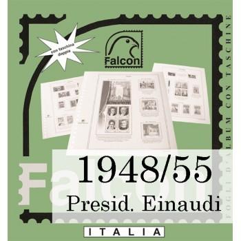 Fogli Italia Presidenza Einaudi (1948/55) - Falcon