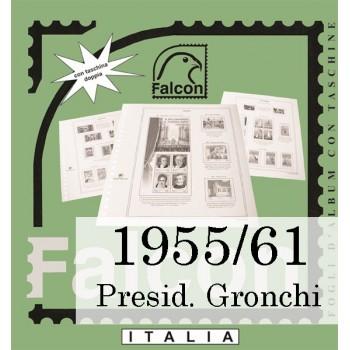 Fogli Italia Presidenza Gronchi (1955/61) - Falcon