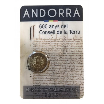 Andorra - 2019 - 2€ Consell de la Terra (in blister)