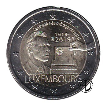 Lussemburgo - 2019 - 2€ Suffragio