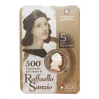Italia - 2020 - 5€ Raffaello PROOF